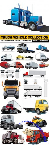 Truck Vehicle Collection - 25 Vector