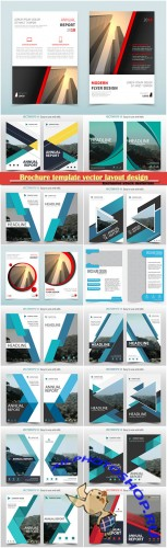 Brochure template vector layout design, corporate business annual report, magazine, flyer mockup # 112