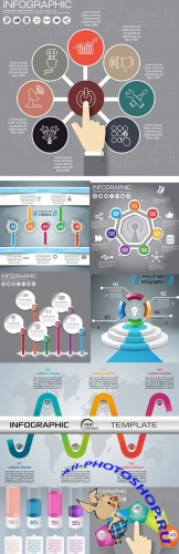 Modern business infographics elements collection 301