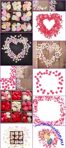 Heart Candy Valentine background 15X JPEG