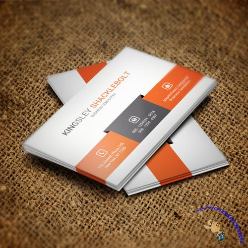 Orange - business card