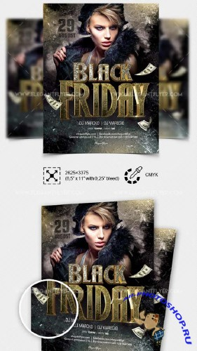 Black Friday V18 2018 Flyer PSD Template