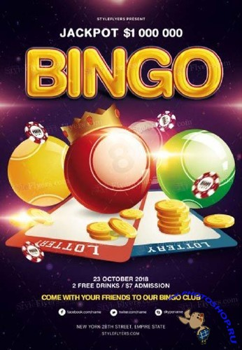 Bingo V15 2018 PSD Flyer Template