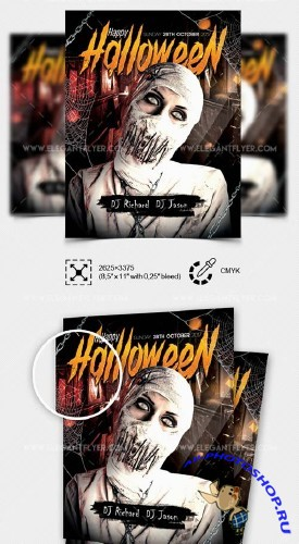 Happy Halloween V20 2018 Flyer PSD Template