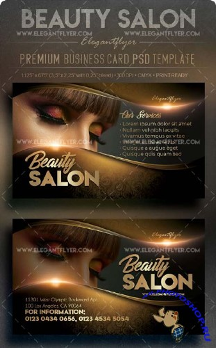 Beauty Salon V3 2018 Premium Business Card