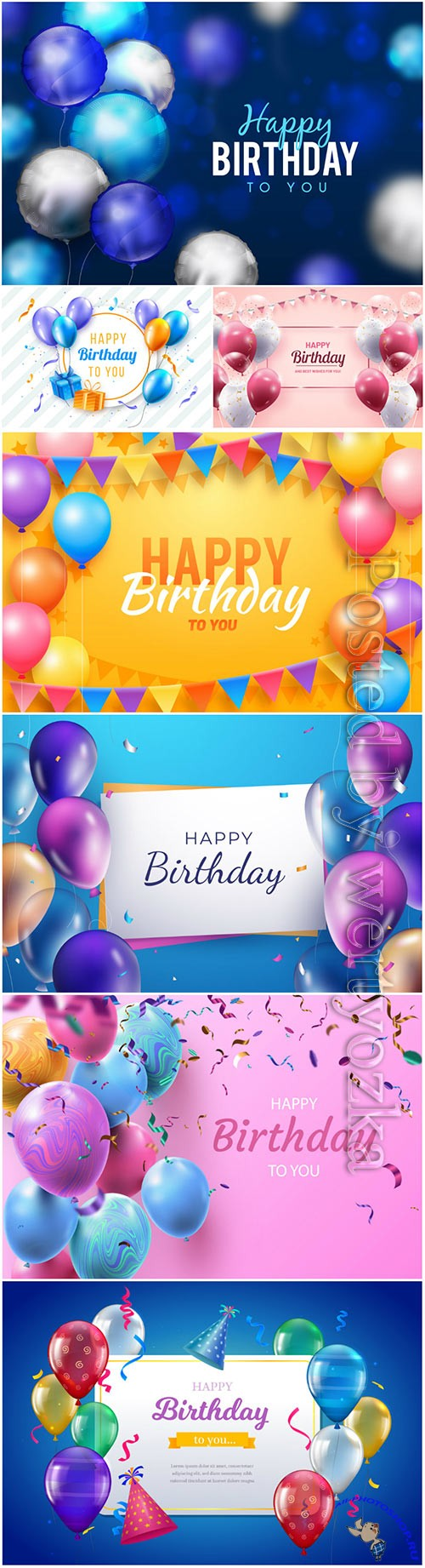 Happy birthday vector backgrounds