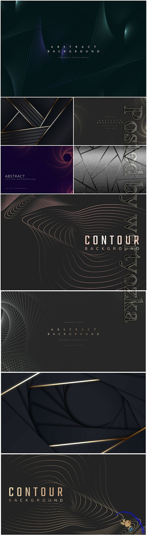 Dark abstract tech vector background