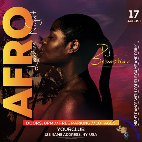 Afro Night Club - Premium flyer psd template