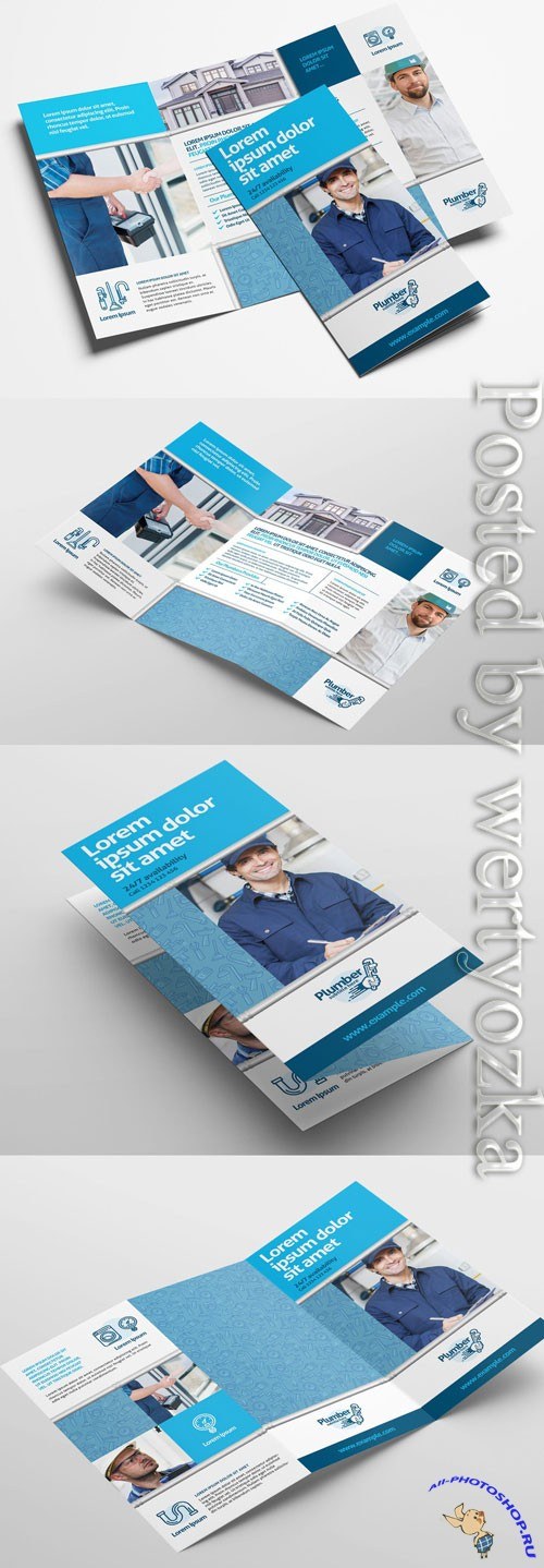 Plumber Brochure Layout