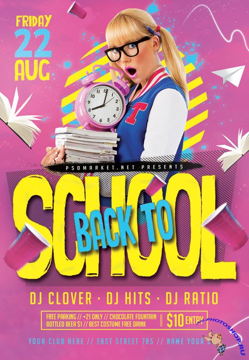 Back to school event2 - Premium flyer psd template