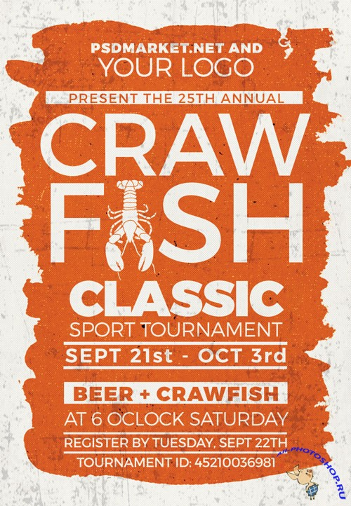 Crawfish classic - Premium flyer psd template