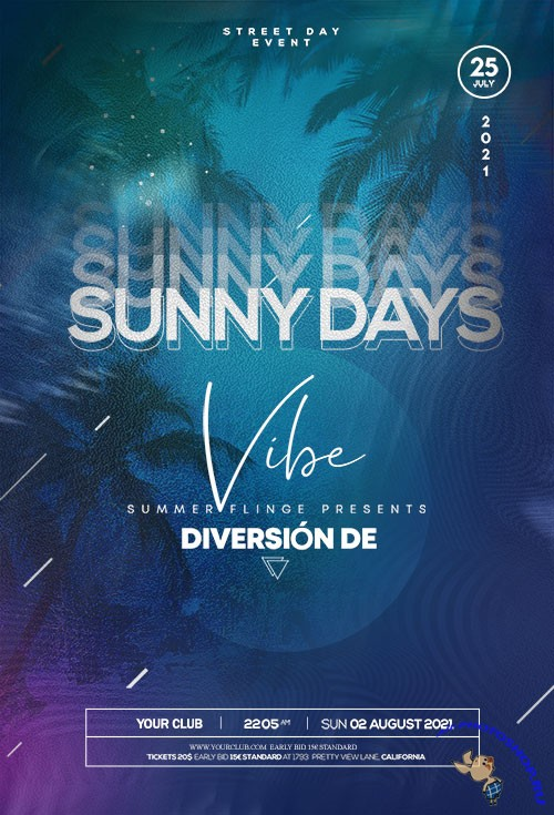 Sunny Days Event - Premium flyer psd template