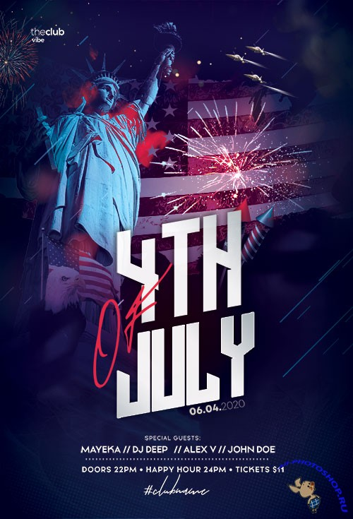 Independence Day 4th July - Premium flyer psd template