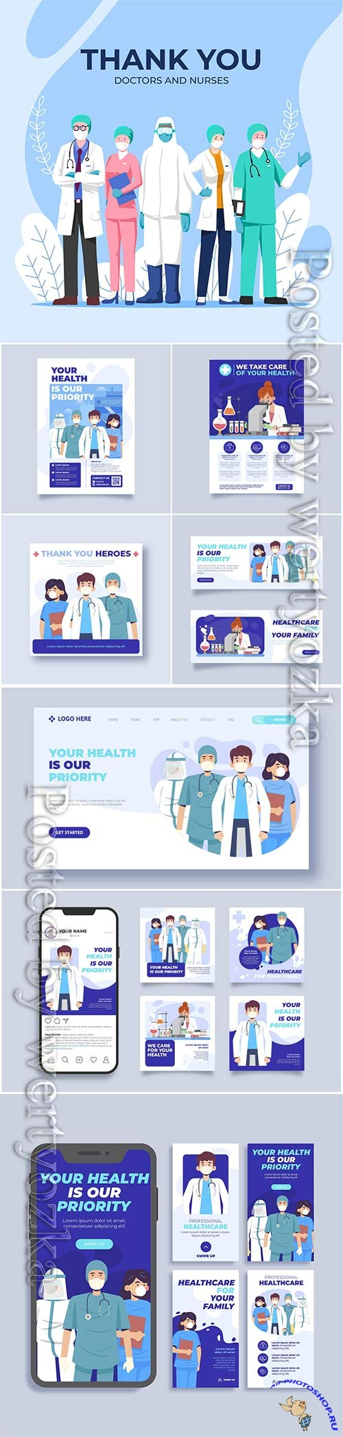 Thank you medical personal flyer template