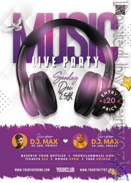 Live Music Event PSD Flyer Template