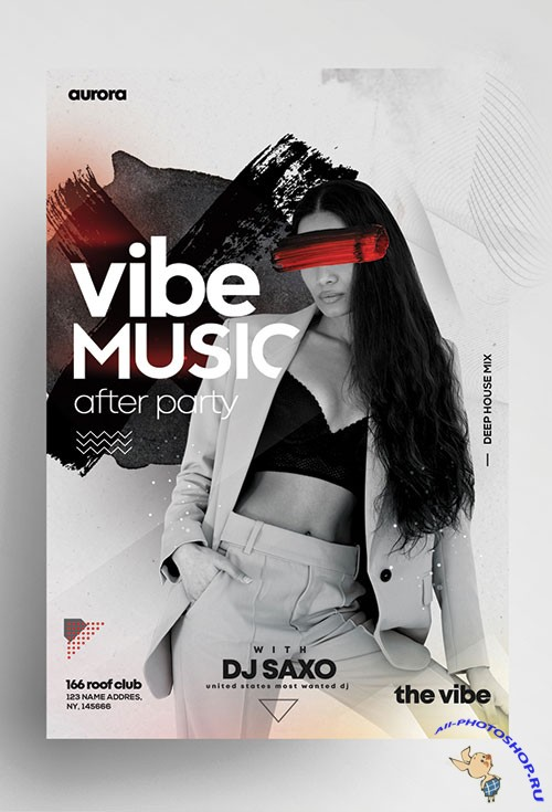 After party psd flyer template