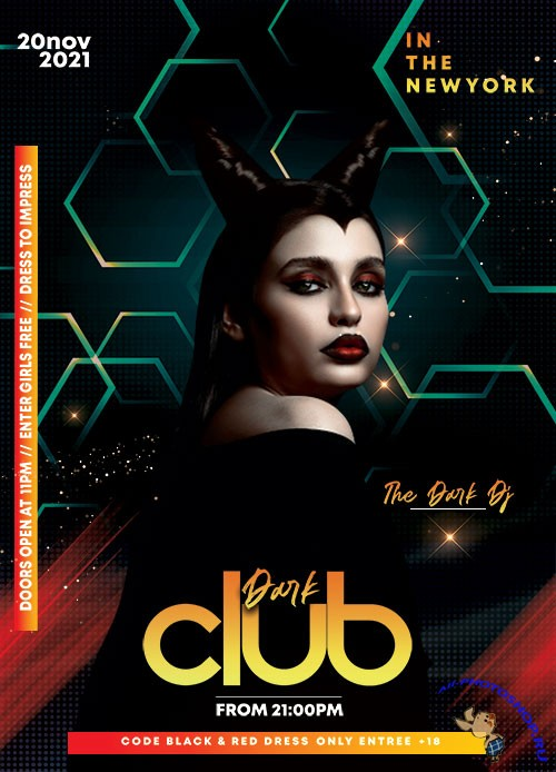 Dark Night Club PSD Flyer Template