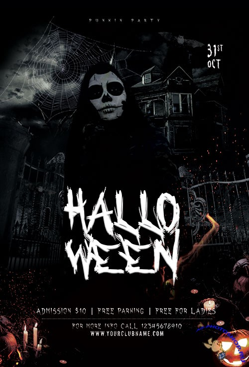 The Witching Hour Halloween - Premium flyer psd template