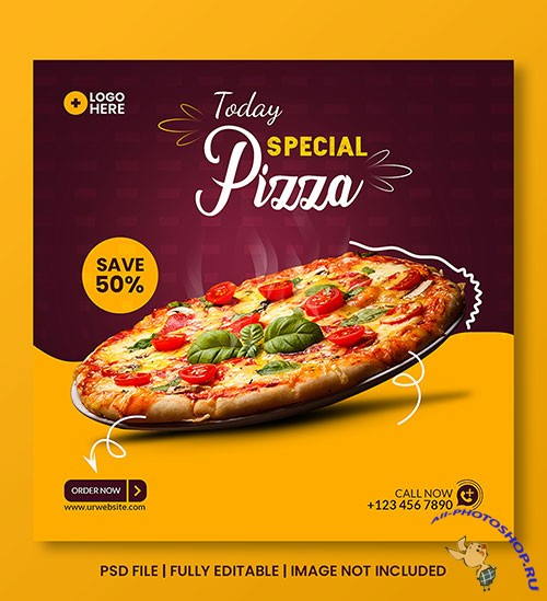 Special food discount social media post template