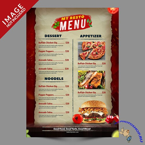 Burger menu promotion template
