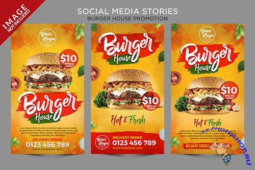 Burger house social media stories series