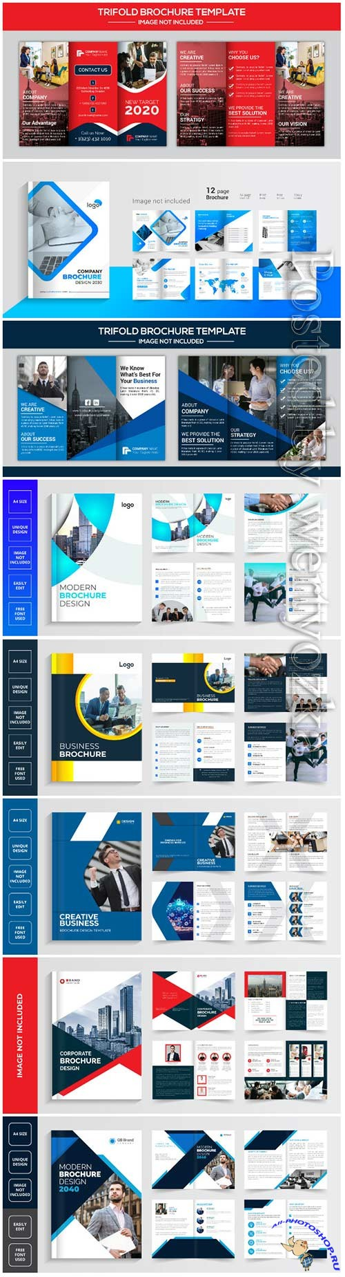 Vector business brochure design template