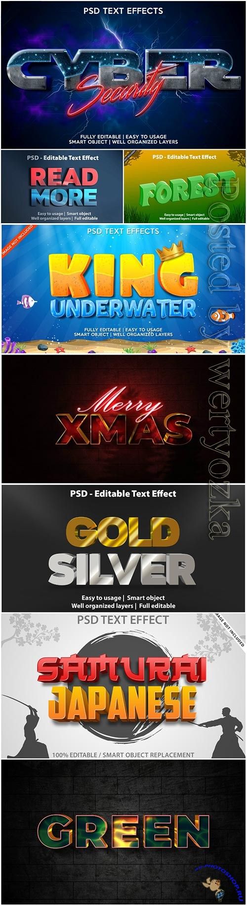 Text effect gold silver template premium psd