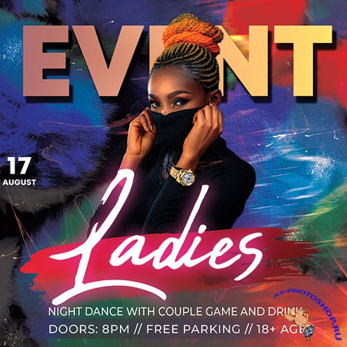 Ladies Event - Premium flyer psd template