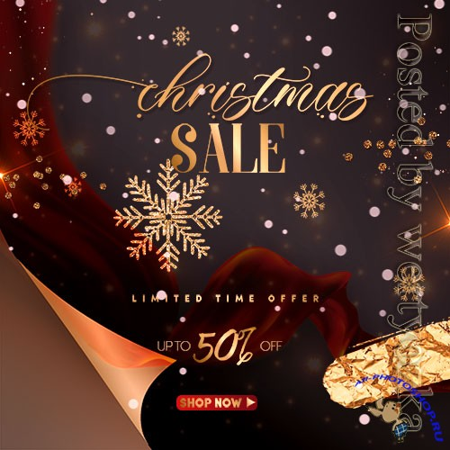 Christmas Sale Banner Post PSD Template