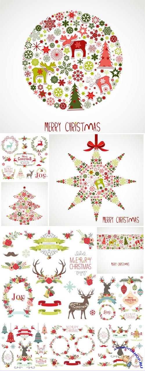 New Year and Christmas illustrations in vector №31