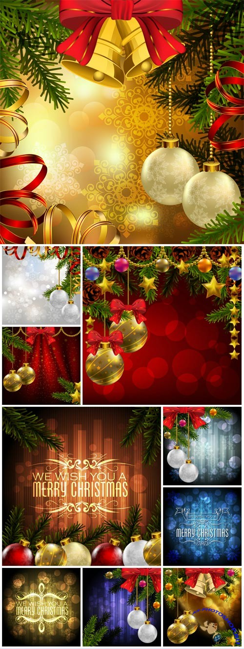 New Year and Christmas illustrations in vector №27