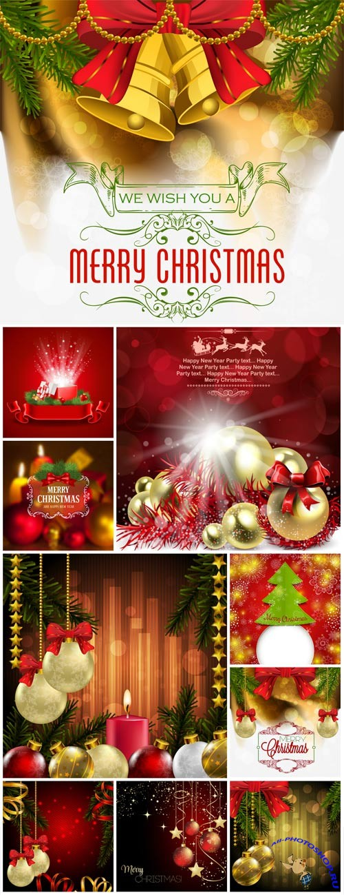 New Year and Christmas illustrations in vector №28