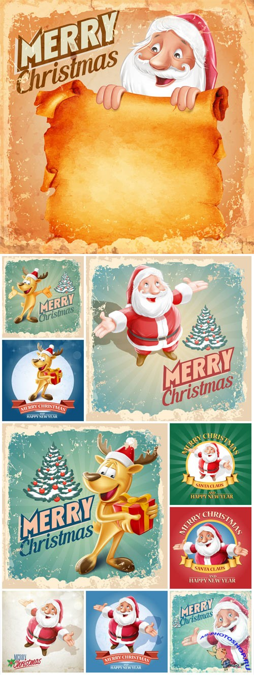 New Year and Christmas illustrations in vector №32