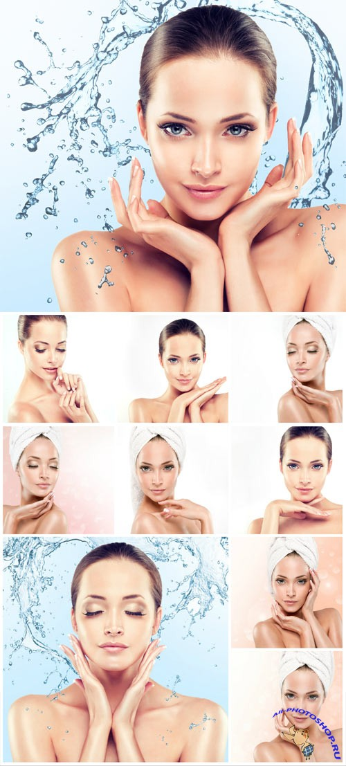 Beautiful girl with healthy skin stock photo