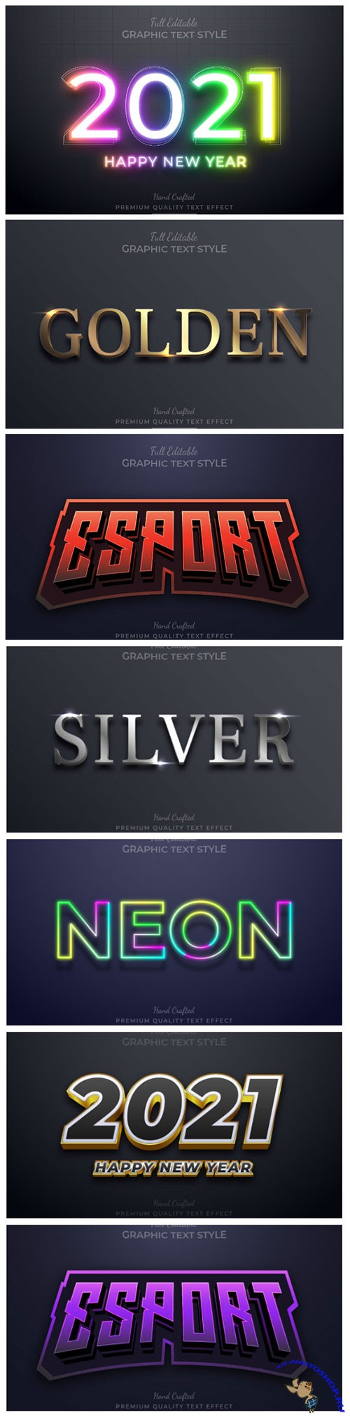 3d editable text style effect vector vol 155
