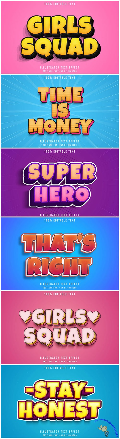 3d editable text style effect vector vol 181