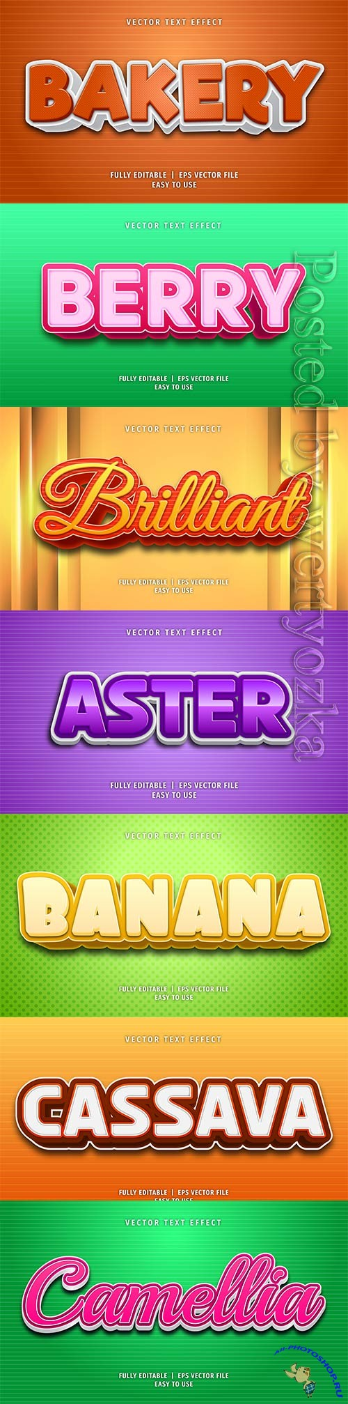 3d editable text style effect vector vol 215