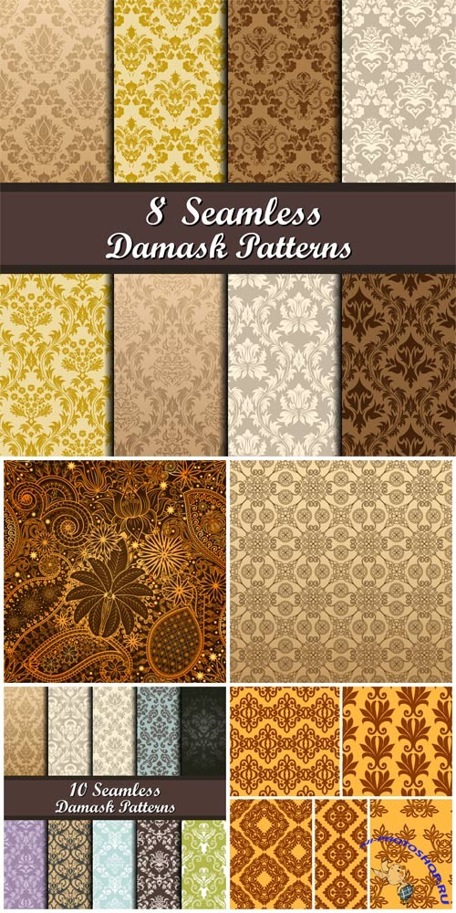 Damask seamless texture in vector