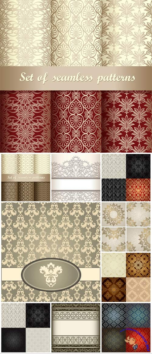 Stylish and shiny ornaments and patterns in vector