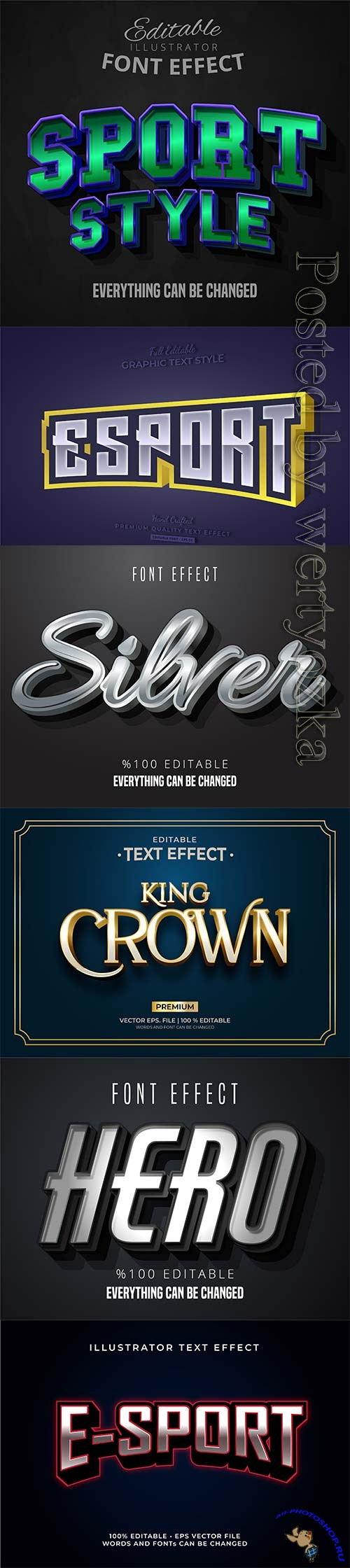 3d editable text style effect vector vol 308