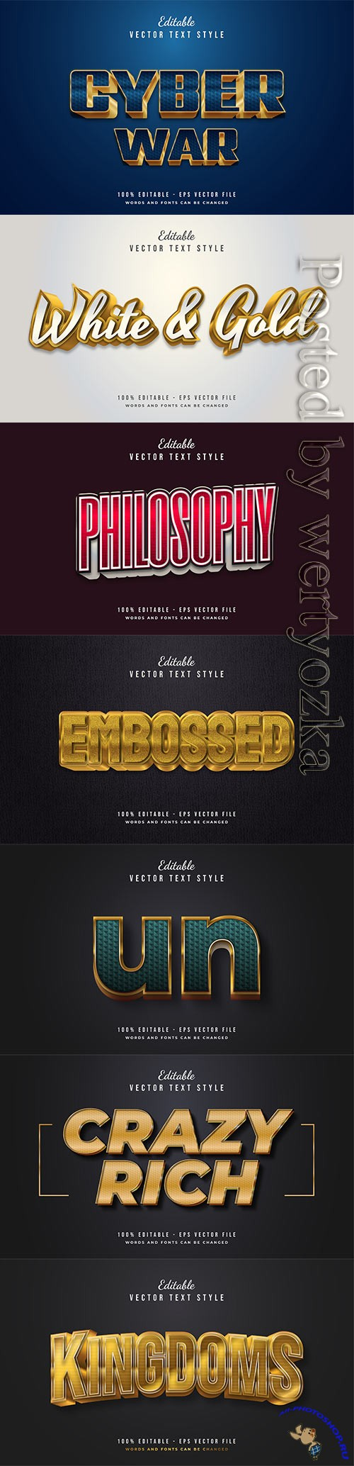 3d editable text style effect vector vol 323