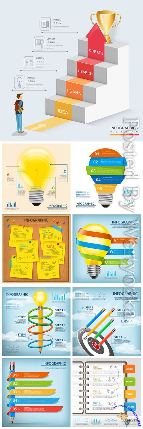 Infographic template concept vector design vol 9