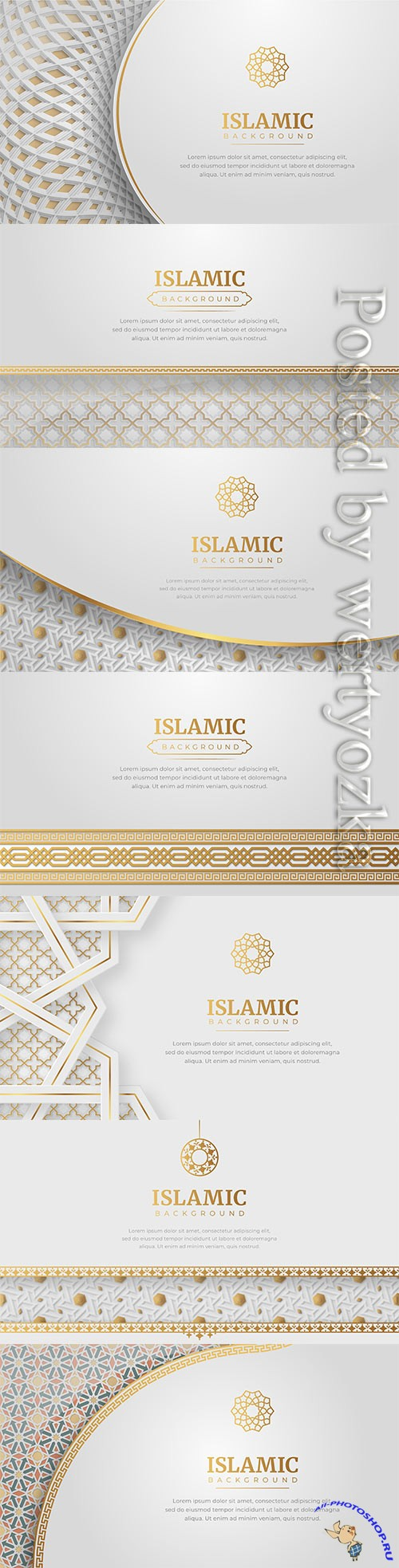 Ramadan kareem, eid mubarak islamic arabic luxury abstract background